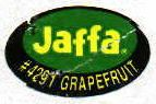 Jaffa white grapefruit sticker