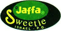 Jaffa Sweetie fruit label